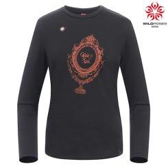 여성 미러 프린트 티셔츠 WS7WTL315_BK