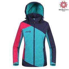 여성 컬러 배색 후드 바람막이 자켓 WS6SJK901_MI