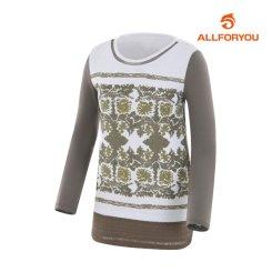 여성 레이스 패턴 티셔츠_AWTRF5158-816_G