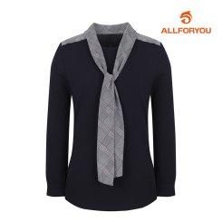 [올포유]여성 체크 타이 긴팔 티셔츠 AWTRH7154-915_G