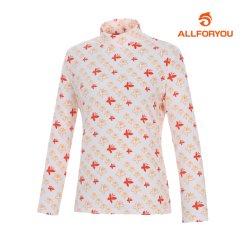 [올포유]여성 프린트 터틀넥 티셔츠 AWQTG7146-102_G