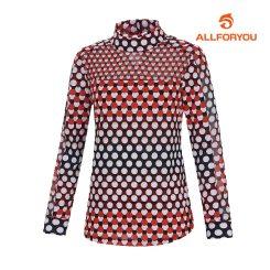 [올포유]여성 도트 넥 티셔츠 AWTHG7155-301_G