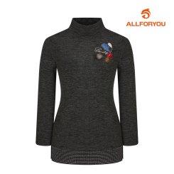 [올포유]여성 자수 하이넥 티셔츠 AWTHI8154-190_G