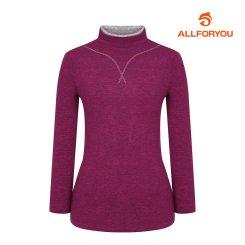 [올포유]여성 넥배색 하이넥 티셔츠 AWTHI8152-403_G