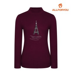 [올포유] 여성 에펠탑 하프넥 니트 AWSHH8R63-604_G