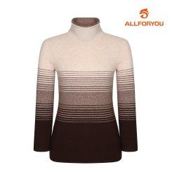 [올포유] 여성 줄무늬 하이넥 니트 AWSHH8251-509_G