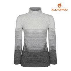 [올포유] 여성 줄무늬 하이넥 니트 AWSHH8251-190_G