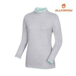 [올포유]여성 포인트 하이넥 티셔츠 AWTHI5164-190_G