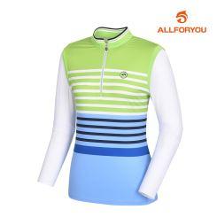 [올포유]여성 줄무늬 반집업 티셔츠 AWTHJ5105-804_G