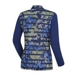 [올포유]여성 줄무늬 반집업 티셔츠 AWTHJ5109-915_G