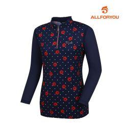 [올포유]여성 꽃무늬 반집업 티셔츠 AWTHJ5107-915_G