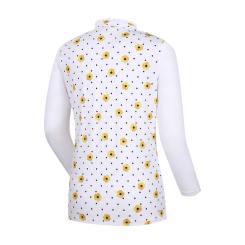 [올포유]여성 꽃무늬 반집업 티셔츠 AWTHJ5107-100_G