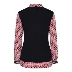 [올포유]여성 패턴 배색 카라 티셔츠 AWTYJ5152-915_G
