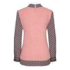 [올포유]여성 패턴 배색 카라 티셔츠 AWTYJ5152-411_G