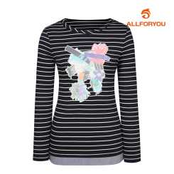[올포유]여성 스트라이프 티셔츠 AWTRJ5154-915_G