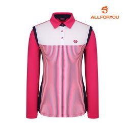 [올포유]여성 줄무늬 카라 티셔츠 AWTYH5102-403_G