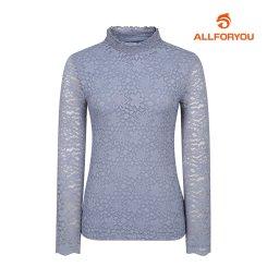 [올포유]여성 레이스 하이넥 티셔츠 AWTRI5165-930_G