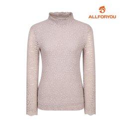 [올포유]여성 레이스 하이넥 티셔츠 AWTRI5165-196_G