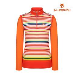 [올포유]여성 줄무늬 반집업 티셔츠 AWTHI5108-301_G