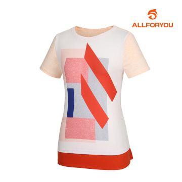 [올포유]여성 라운드 반팔 티셔츠 AWTRH6157-301_G