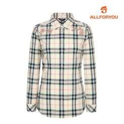 [올포유]21SS 여성 자수 체크 셔츠 ALBLK1421-102_G