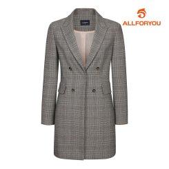 [올포유]21SS 여성 체크 버튼 자켓 ALKKK1311-190_G