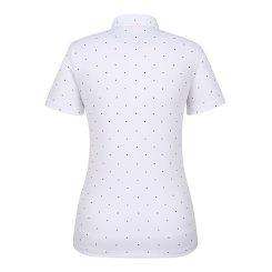 [올포유]여성 패턴 카라 반팔 티셔츠 AWTYI6131-100_G