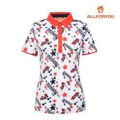 [올포유]여성 별 카라 반팔 티셔츠 AWTYI6115-100_G