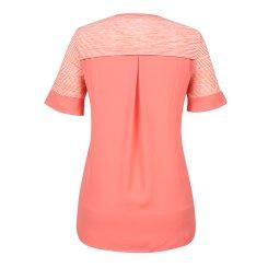 [올포유]여성 패턴 배색 반팔 티셔츠 AWTRI6160-304_G