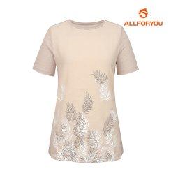 [올포유]여성 나뭇잎 반팔 티셔츠 AWTRI6155-509_G