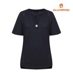 [올포유]여성 자수 반팔 티셔츠 AWTRH6R64-915_G