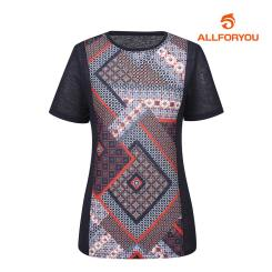 [올포유]여성 에스닉 반팔 티셔츠 AWTRH6169-915_G