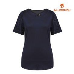 [올포유]여성 주름 반팔 티셔츠 AWTRH6166-915_G