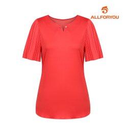 [올포유]여성 주름 반팔 티셔츠 AWTRH6166-500_G