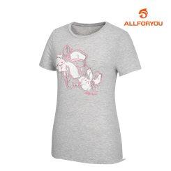 [올포유]여성 플라워 프린팅 반팔 티셔츠_AWQTI6193-190_G