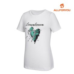[올포유]여성 프린팅 반팔 티셔츠_AWQTI6192-100_G