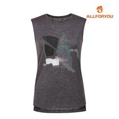 [올포유]여성 프린팅 민소매 티셔츠 AWTSI6R64-195_G
