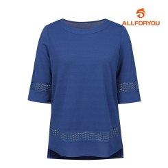 [올포유]여성 자수 디테일 티셔츠 AWTRI6153-906_G