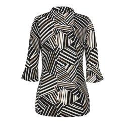 [올포유]여성 패턴 카라 티셔츠 AWTYH6152-199_G