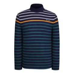 [올포유]남성 줄무늬 하이넥 티셔츠 AMTHI3108-915_G