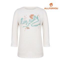 [올포유]여성 프린팅 7부 티셔츠 AWTRI7154-100_G