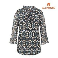 [올포유]여성 패턴 넥리본 티셔츠 AWTRH7151-804_G