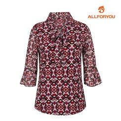 [올포유]여성 패턴 넥리본 티셔츠 AWTRH7151-415_G