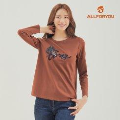 [올포유]21FW 여성 라운드 티셔츠 ALTRK8351-505_G