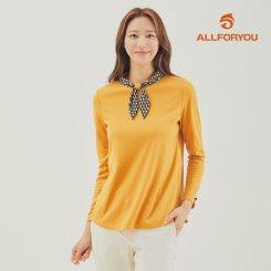 [올포유]21FW 여성 스카프 티셔츠 ALTHK8211-217_G