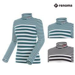 [레노마골프]여성 스트라이프 하이넥 티셔츠 RWTHG7103 택1