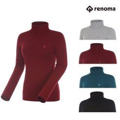 [레노마골프]여성 로고 패치 베이직 폴라 스웨터 RWSPG7201 택1