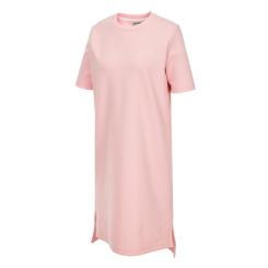[라푸마][19SS] 핑크 여성 루즈핏 라운드 원피스 LFTS9B326P1