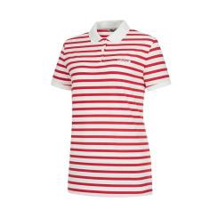 [라푸마][19SS] 레드 메쉬 스트라이프 카라 티셔츠 LFTS9B333R2