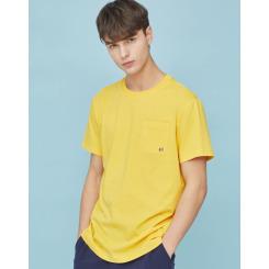 [라푸마][19SS] 옐로우 포켓 로고 반팔티셔츠 (남녀공용) LMTS9B022Y2